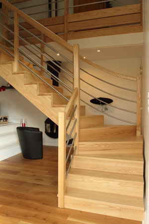 Escalier 1/4 tournant milieu