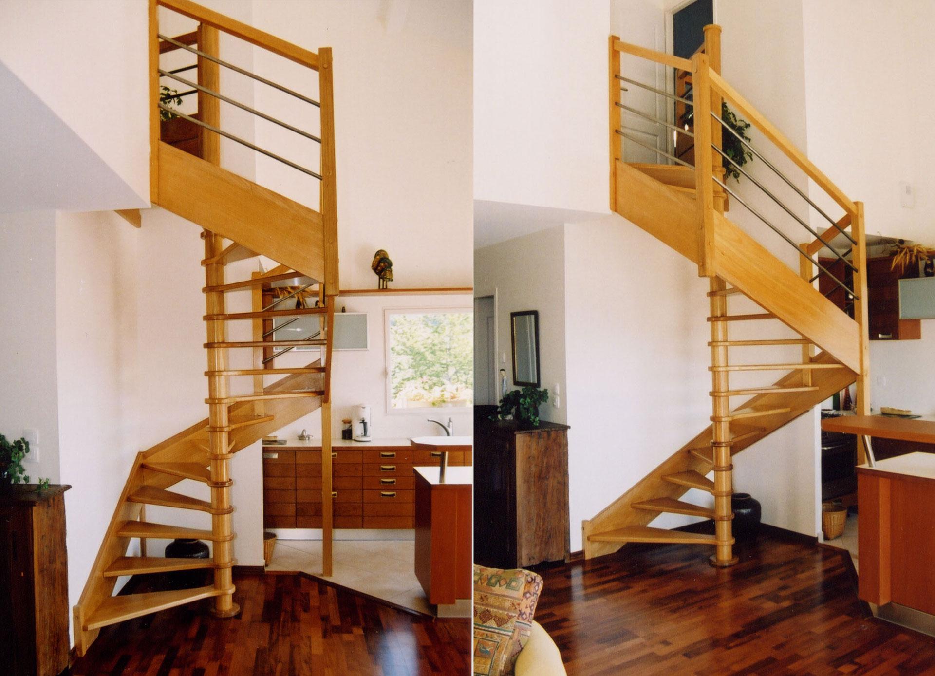 escalier 2 4 tournant mb escaliers. Black Bedroom Furniture Sets. Home Design Ideas