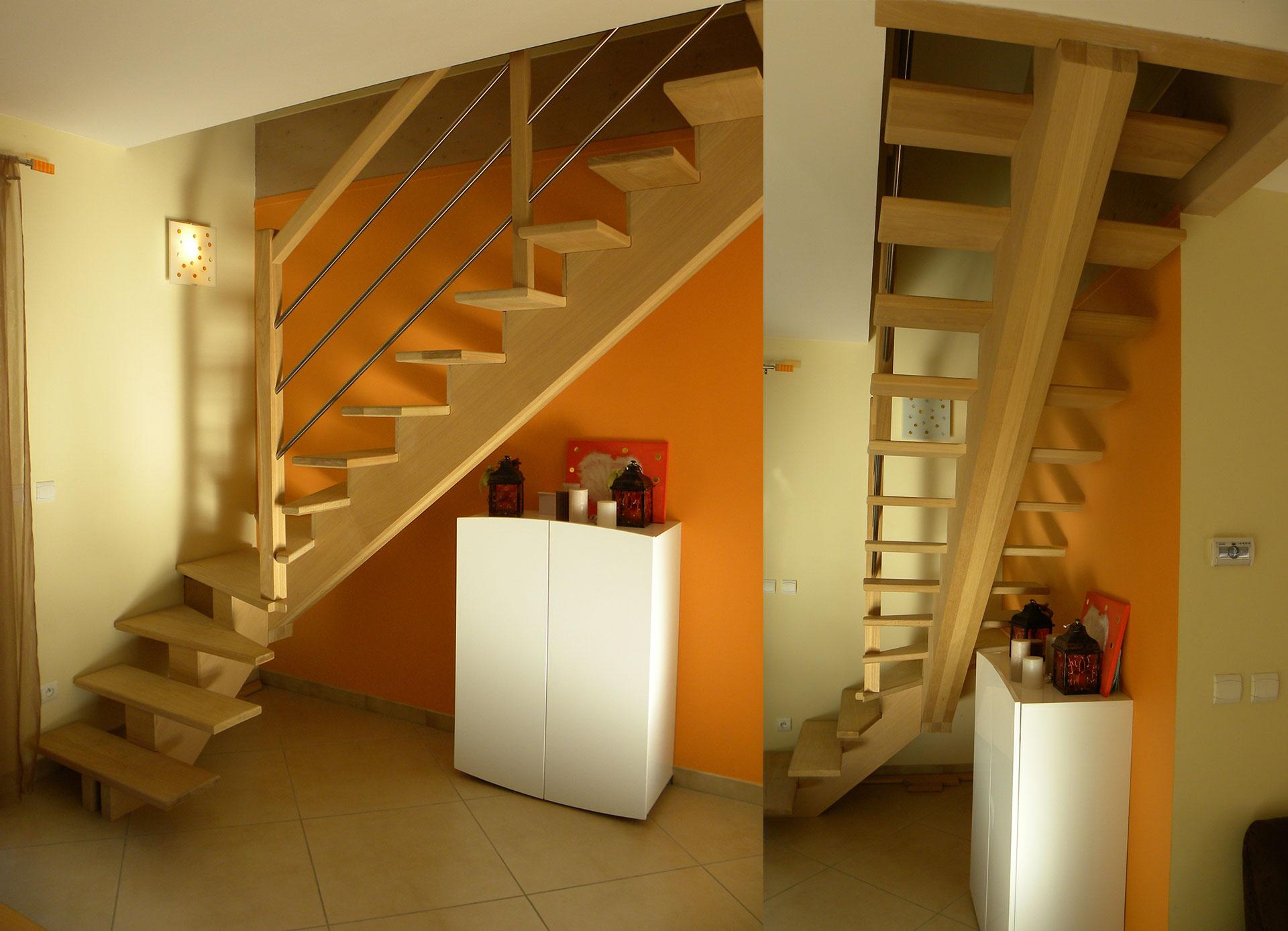 escalier 1 4 tournant sans contremarches mb escaliers. Black Bedroom Furniture Sets. Home Design Ideas