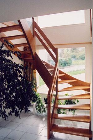 Escalier 2/4 tournant et droit