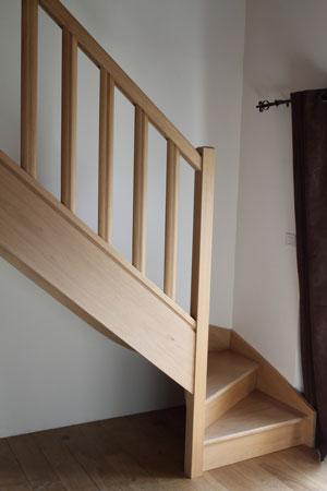 Escalier 1/4 tournant avec contremarches
