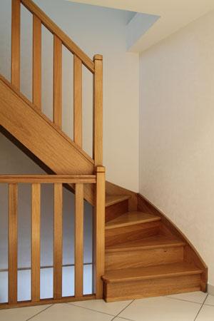 Escalier 1/4 tournant départ